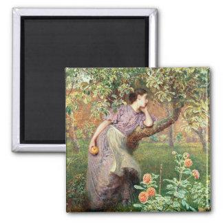 Autumn, 1865 2 inch square magnet
