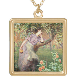 Autumn, 1865 gold plated necklace