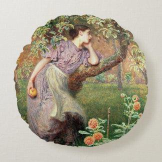 Autumn, 1865 round pillow