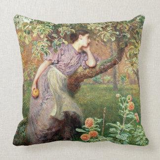 Autumn, 1865 throw pillow