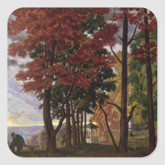 Autumn, 1918 square stickers