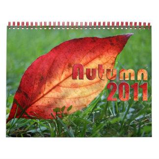Autumn 2011 wall calendars