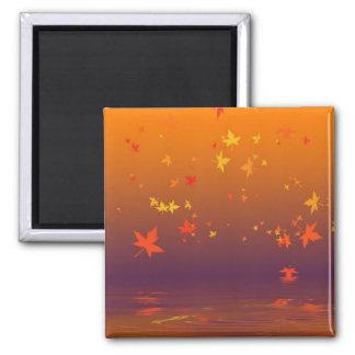 autumn 2 inch square magnet