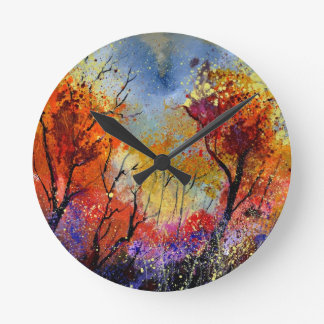 autumn 453180iv.jpg round wallclock