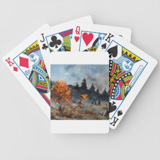 autumn 7651012 bicycle playing cards