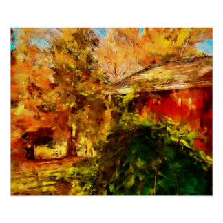 Autumn, A Corner in the Country, landscape art Poster