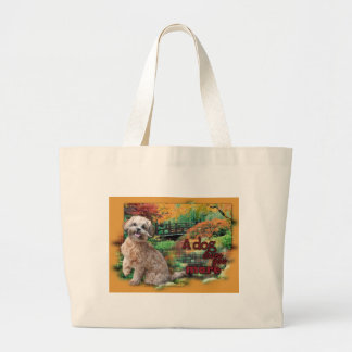 Autumn - A Dog Loves You More - Maggie - ShihPoo Jumbo Tote Bag