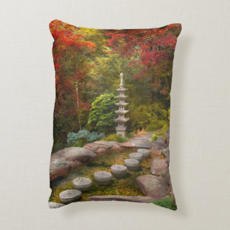 Autumn - A journey begins one step at a time Accent Pillow