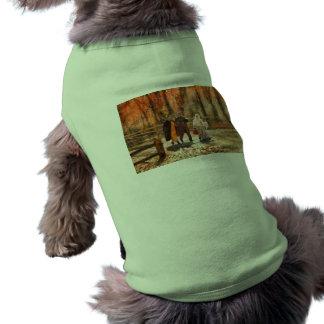 Autumn - A walk in the countryside Doggie Tshirt