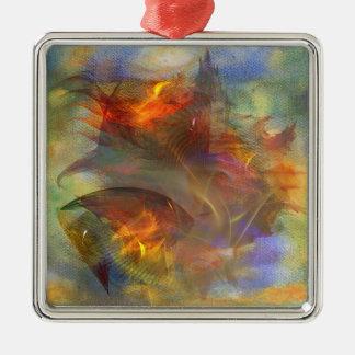 Autumn Ablaze Metal Ornament