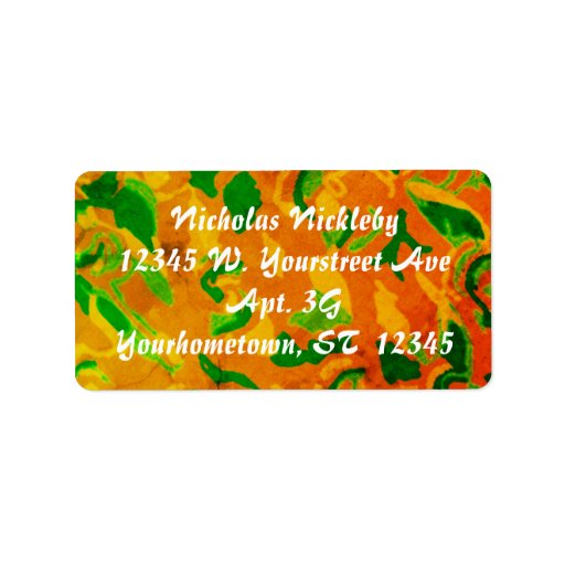 Autumn Abstract Label