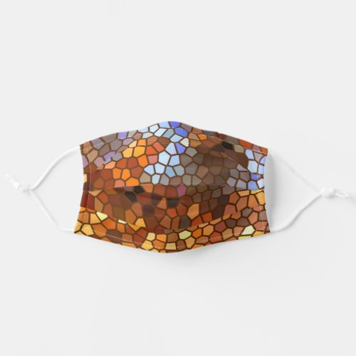 Autumn Abstract Mosaic Adult Cloth Face Mask