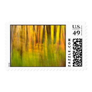 Autumn abstract postage
