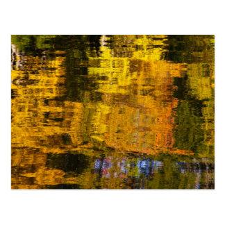 Autumn Abstract Postcard