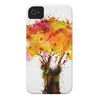 Autumn Abstract Tree Forming By Blots iPhone 4 Cover