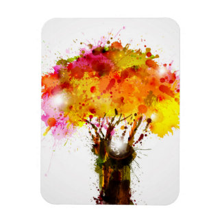Autumn Abstract Tree Forming By Blots Magnet