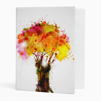Autumn Abstract Tree Forming By Blots Mini Binder