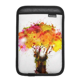 Autumn Abstract Tree Forming By Blots Sleeve For iPad Mini
