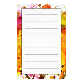 Autumn Abstract Tree Forming By Blots Custom Stationery