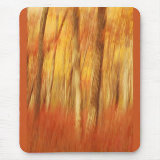 Autumn abstract trees mouse pad