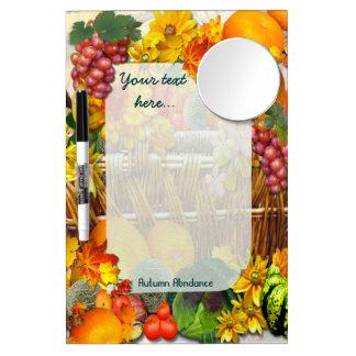 Autumn Abundance  ~ Dry Erase Board with Mirror
