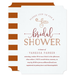 Autumn Acorn Bridal Shower Invitation