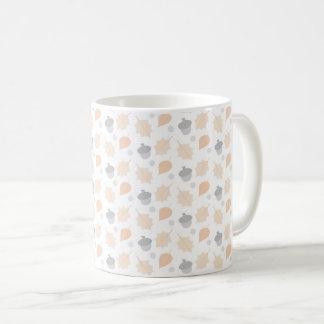Autumn Acorn Leaf Pattern Coffee Mug