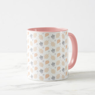 Autumn Acorn Leaf Pattern Mug