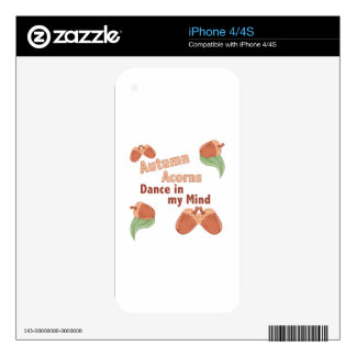 Autumn Acorns iPhone 4S Decal