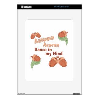 Autumn Acorns Skins For The iPad