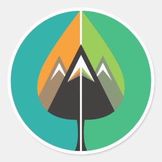 autumn adventures classic round sticker