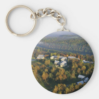 Autumn Aerial of the National Conservation Trainin Basic Round Button Keychain