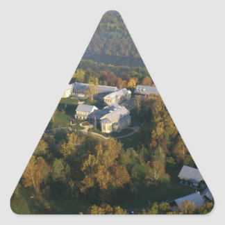 AUTUMN AERIAL OF THE NATIONAL CONSERVATION TRAININ TRIANGLE STICKER