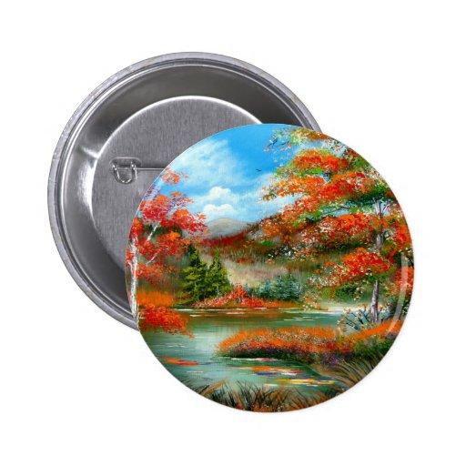 Autumn Afternoon Design 2 Inch Round Button