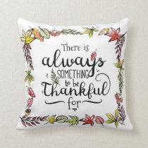 Autumn Always Thankful Decorative Throw Pillow