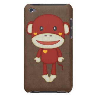 Autumn and Fall Retro Sock Monkey iPod Touch Cases
