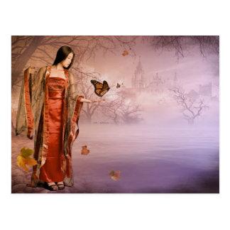 Autumn and Monarch Butterflies Postcards