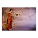 Autumn and Monarch Butterflies Posters