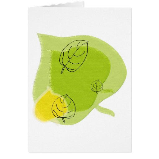 Autumn and the leaves falling greeting cards