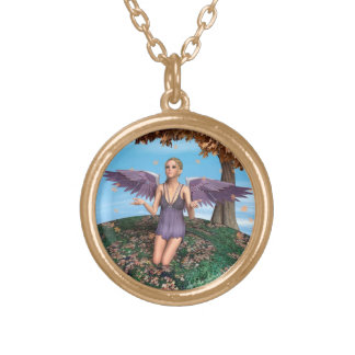 Autumn Angel Gold Plated Necklace