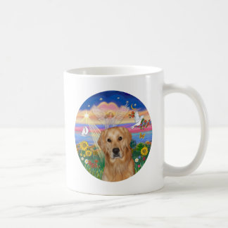Autumn Angel - Golden Retriever Coffee Mug