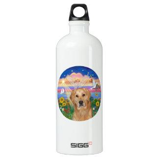Autumn Angel - Golden Retriever Water Bottle