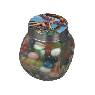 Autumn Angel Jelly Belly Candy Jar