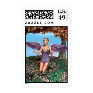 Autumn Angel Postage Stamp