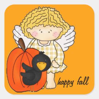 Autumn Angel, Pumpkin & Crow Fall Season Stickers