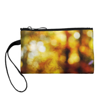 Autumn Angel with Textured Bokeh Coin Wallet