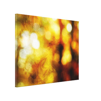 Autumn Angel with Textured Bokeh Canvas Print
