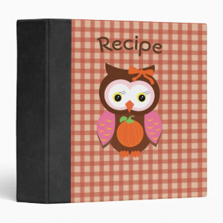 Autumn Animal Cute Owl Photo/Recipe Binder