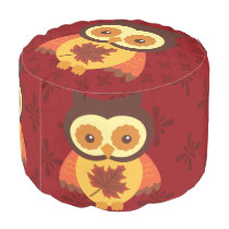Autumn Animals Pouf