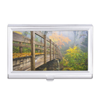 Autumn Appalachian Hiking Trail Business Card Case